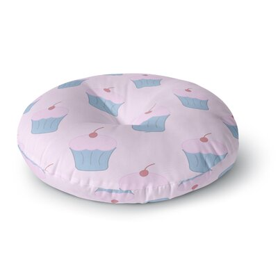 NL Designs Pink Cupcakes Blush Round Floor Pillow Size: 23 x 23