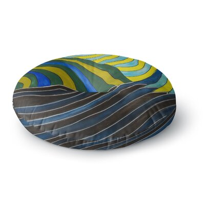 NL Designs Desert Waves Round Floor Pillow Size: 26 x 26