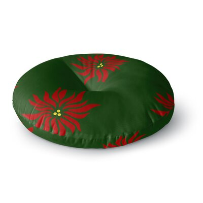 NL Designs Poinsettias Round Floor Pillow Size: 26 x 26