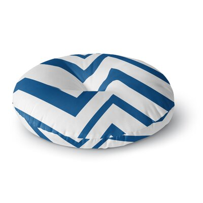 NL Designs ZigZag Navy Round Floor Pillow Size: 23 x 23