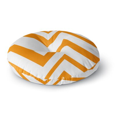 NL Designs ZigZag Orange gerine Round Floor Pillow Size: 23 x 23