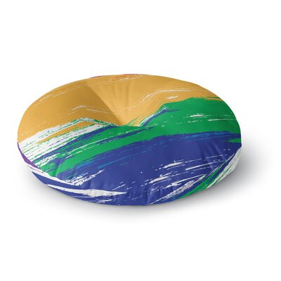 NL designs Rainbow Paint Illustration Round Floor Pillow Size: 23 x 23