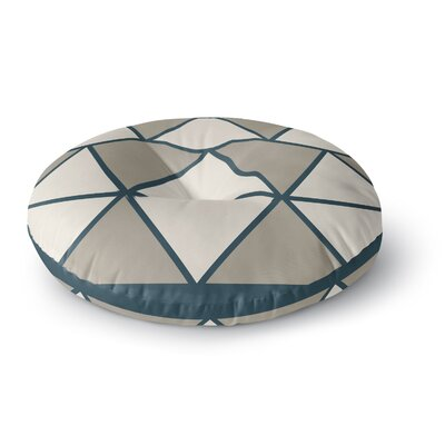 NL designs Sandstone Triangles Geometric Round Floor Pillow Size: 26 x 26