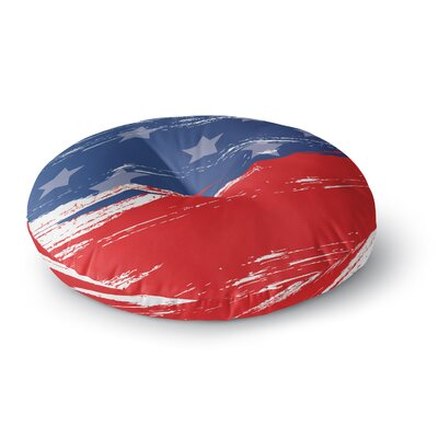 NL designs Red White Blue Round Floor Pillow Size: 26 x 26