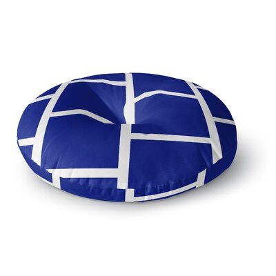 NL designs Navy Square Blocks Round Floor Pillow Size: 26 x 26