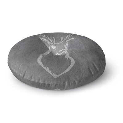 NL Designs Chalkboard Deer Digital Round Floor Pillow Size: 23 x 23
