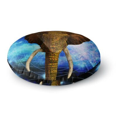 NL Designs Space Elephant Digital Round Floor Pillow Size: 23 x 23