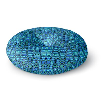 Nina May Variblue Round Floor Pillow Size: 26 x 26