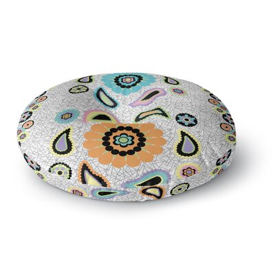 Nina May Moda Paisley Paisley Flower Round Floor Pillow Size: 23 x 23