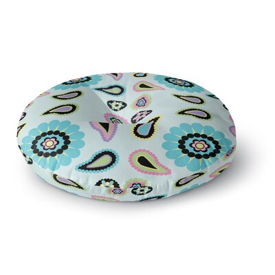 Nina May Paisley Candy Paisley Flower Round Floor Pillow Size: 23 x 23