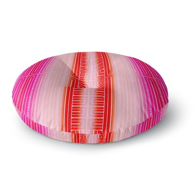 Nina May Deco City Blush Round Floor Pillow Size: 26 x 26