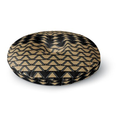 Nina May Deco Angles Gold Black Round Floor Pillow Size: 23 x 23