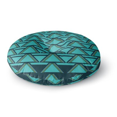 Nina May Deco Angles Round Floor Pillow Size: 26 x 26