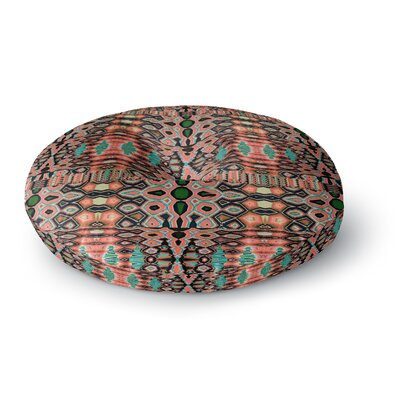 Nina May Deztecca Coral Digital Round Floor Pillow Size: 23 x 23