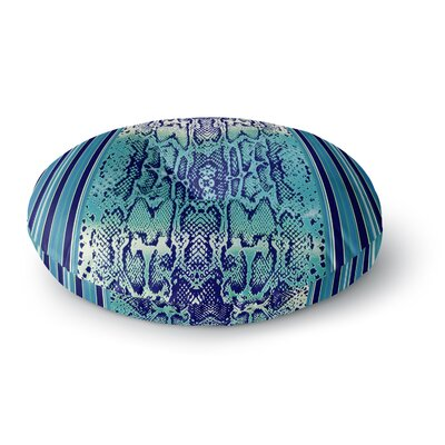 Nina May Aqua Snake Round Floor Pillow Size: 23 x 23