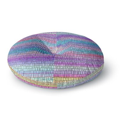 Nina May Drip Dye Strid Abstract Round Floor Pillow Size: 23 x 23