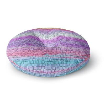 Nina May Drip Dye Warm Strid Round Floor Pillow Size: 26 x 26