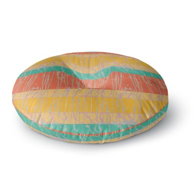 Nina May Desert Splatter Round Floor Pillow Size: 26 x 26