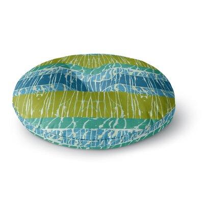Nina May Ocean Splatter Round Floor Pillow Size: 26 x 26