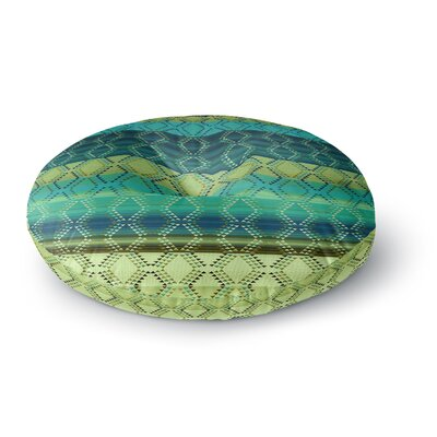 Nina May Denin Diamond Gradient Green Emerald Round Floor Pillow Size: 26 x 26