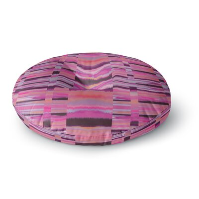Nina May Samanna Coral Tribal Round Floor Pillow Size: 26 x 26