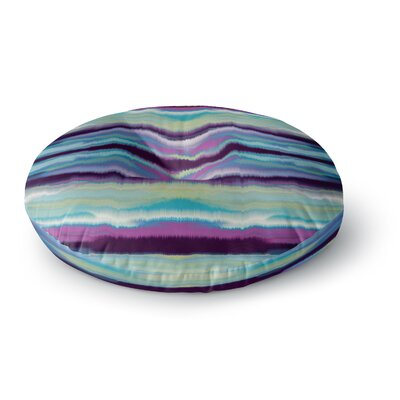 Nina May Artik Blue Stripe Round Floor Pillow Size: 23 x 23