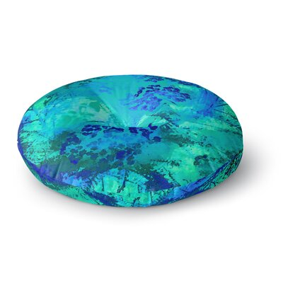 Nina May Wildflower Blue Round Floor Pillow Size: 23 x 23
