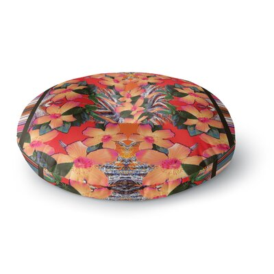 Nina May Striped Alohas Round Floor Pillow Size: 26 x 26