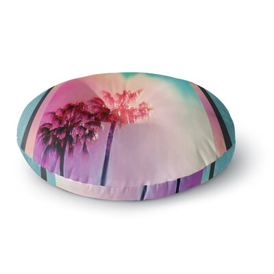 Nina May LA Rainbow Round Floor Pillow Size: 26 x 26