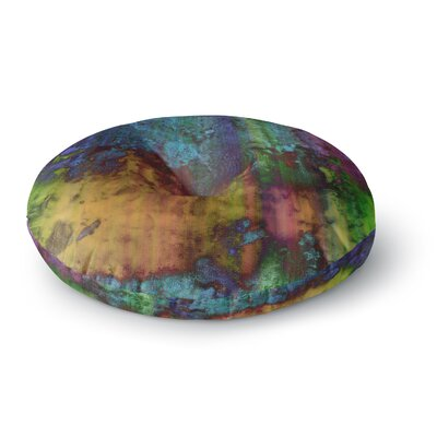Nina May Rainbow Saltwater Painting Round Floor Pillow Size: 26 x 26