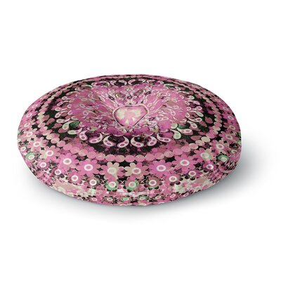 Nina May Pink Mosaic Mandala Illustration Round Floor Pillow Size: 23 x 23