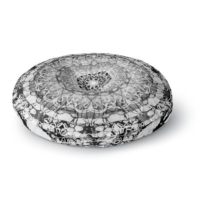 Nina May Tie-Dye Mandala Jain Illustration Round Floor Pillow Size: 26 x 26