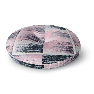 Nina May Tavertina Pink Mixed Media Round Floor Pillow Size: 23 x 23