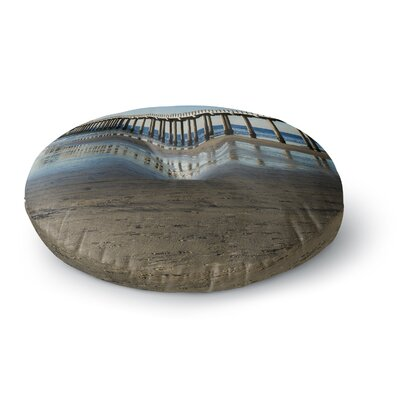 Nick Nareshni Scripps Beach Pier Coastal Photography Round Floor Pillow Size: 23 x 23