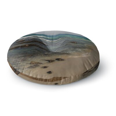 Nick Nareshni Clear Water Beach Coastal Round Floor Pillow Size: 23 x 23