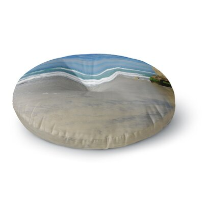 Nick Nareshni Solana Beach Sands Nature Coastal Round Floor Pillow Size: 26 x 26