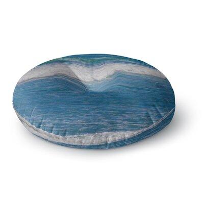 Nick Nareshni Solana Beach Rolling Waves Coastal Round Floor Pillow Size: 23 x 23
