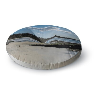 Nick Nareshni Clouds Over Swamis Beach Round Floor Pillow Size: 23 x 23