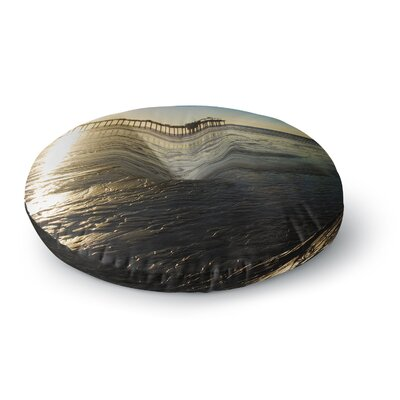 Nick Nareshni Sun Over Scripps Pier Round Floor Pillow Size: 26 x 26