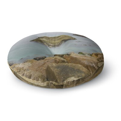 Nick Nareshni Rock Above Water Round Floor Pillow Size: 26 x 26