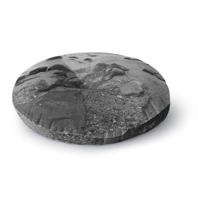 Nick Nareshni Water Moving Around Rocks Round Floor Pillow Size: 26 x 26