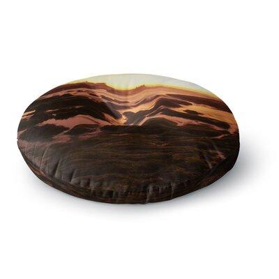 Nick Nareshni Rocks of La Jolla Sunset Round Floor Pillow Size: 23 x 23
