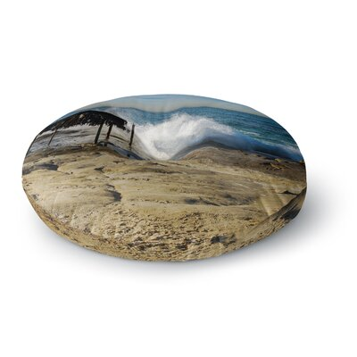Nick Nareshni Straw Hut on Beach Round Floor Pillow Size: 23 x 23