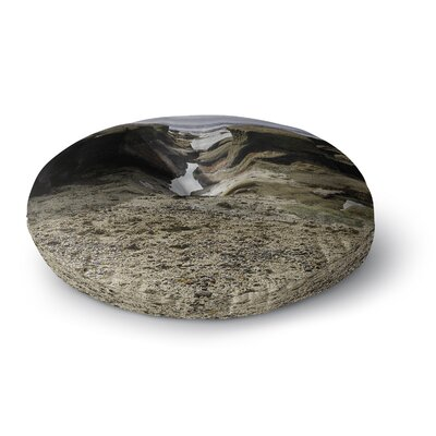 Nick Nareshni Stones Leading to Ocean Round Floor Pillow Size: 23 x 23