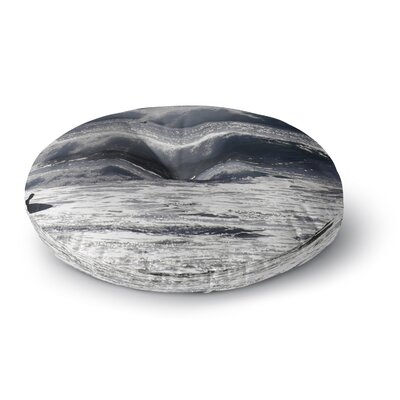 Nick Nareshni Lone Surfer Round Floor Pillow Size: 26 x 26