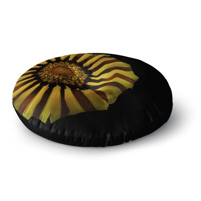 Nick Nareshni Red and Yellow Flower Floral Photography Round Floor Pillow Size: 23 x 23