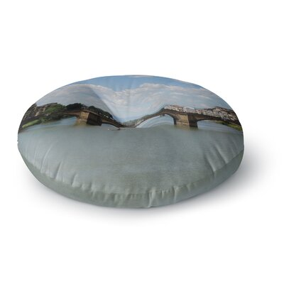 Nick Nareshni Italian Archways Nature Teavel Round Floor Pillow Size: 26 x 26