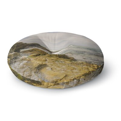 Nick Nareshni Rocks Over the Water Round Floor Pillow Size: 26 x 26