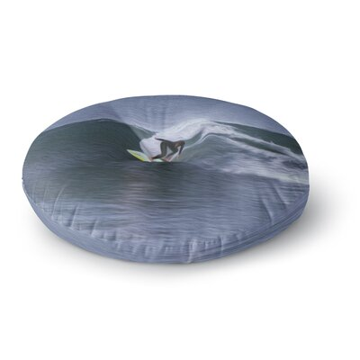 Nick Nareshni Surfers Ride Round Floor Pillow Size: 26 x 26