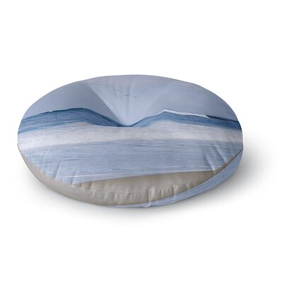 Nick Nareshni Seagulls on the Beach Round Floor Pillow Size: 26 x 26